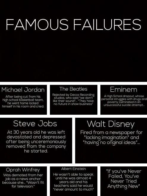 Famous Failures - WOW! I have heard most of these, but they