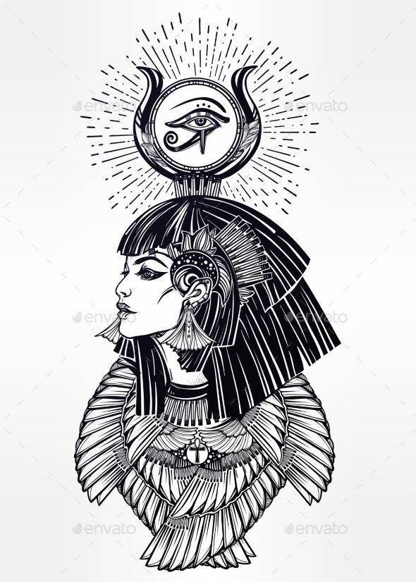 Portrait Of a Egyptian Goddess. - People Characters