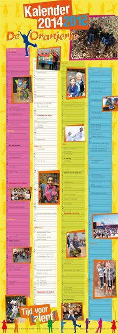 Schoolkalender voor Basisschool De Oranjerie uit Zoetermeer 2014 - 2015