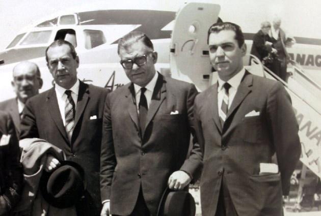 Gabriel Valdes Subercasaux, Radomiro Tomic, ex candidato presidencial de la Democracia Cristiana en 1969 y Sergio Molina