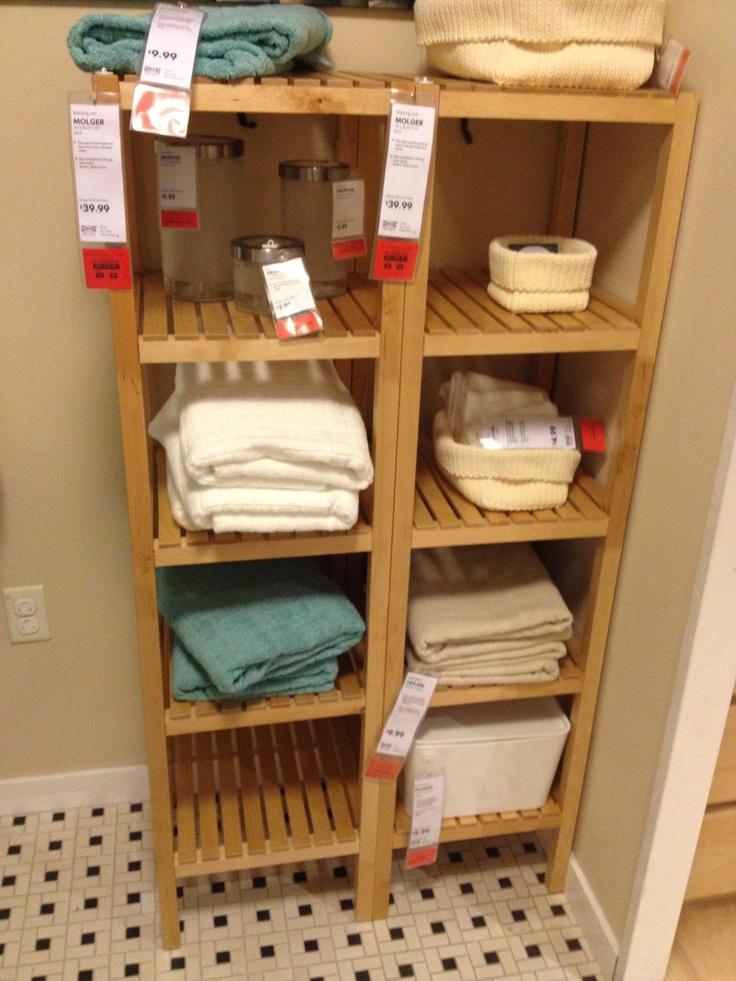 Ikea - bathroom storage shelves - for the hallway