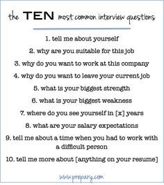 Best 25+ Most common interview questions ideas on Pinterest