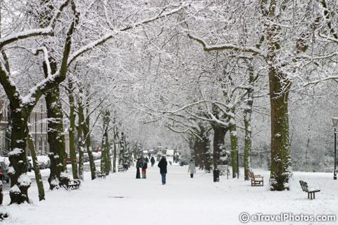 Winter in Islington, London