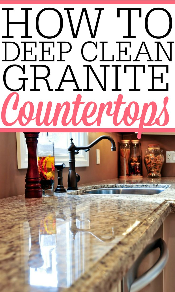 Have your granite countertops lost their shine? Check out how to deep clean granite countertops to bring back the original shine and beauty of your granite countertops. You will love how they look afterward!