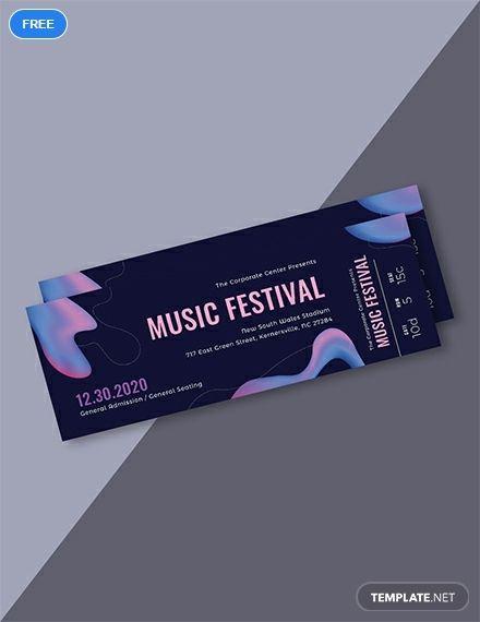 Free Modern Music Concert Ticket   Voucher   Concert ticket