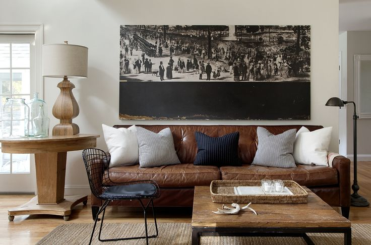 Can we make our living room look like this where we have a leather couch this color.