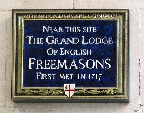 Freemasonry:  Blue plaque. #Freemasonry.