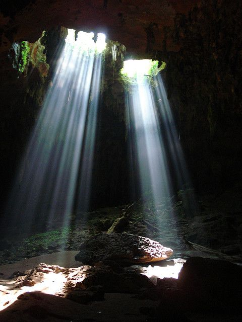 Lol-Tun Cave System in Yucatan Peninsula, Mexico (by laurieclark).