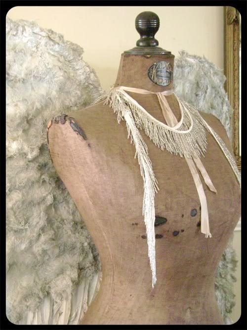 vintage dress mannequin: Vintage Dressform, Paspop Dressform Corsets, Angel Dresses, Angel Wings, Angel Form, Antiques Dresses, Dressform Mannequin, Dresses Mannequin, Vintage Dresses Form