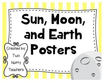 """FREEBIE!! These posters are used in our classroom on a daily basis as we move through our Space Unit. We call up three students a day to """"act out"""" the movement of the Earth and Moon in relationship to the Sun. While the students are demonstrating, we have a perfect opportunity to review and reinforce key concepts from the unit. ENJOY!!"""