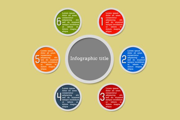 Infogaphic - 6 options by stockimagefolio on @creativemarket
