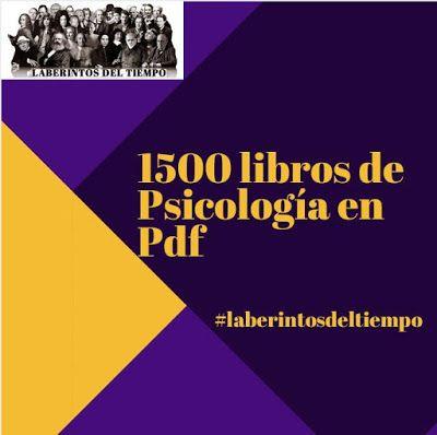 Hoy en Laberintos del Tiempo, les traigo una colección de 1500 Libros de Psicología. Para todos aquellos que me habían pedido desde hace ...
