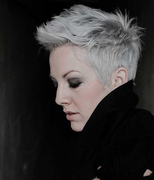 Mooie Winter Kleur Zilver-Grijs! Super Leuke Korte Kapsels met een Mooie Zilver-Grijze TinT