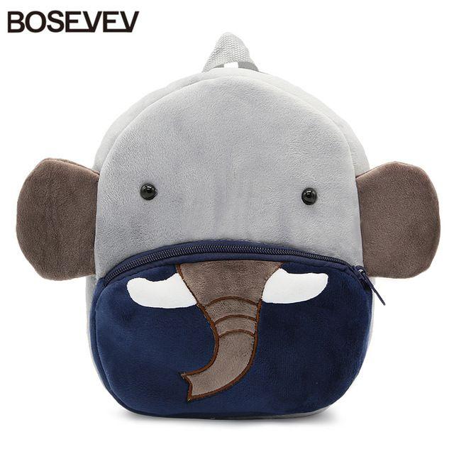 BOSEVEV Plush Children Backpacks Cartoon Girls Boys Kindergarten Schoolbag Animal Elephant Kids Backpack Children School Bags #BOSEVEV #School Bags #popular #november2017 #useful