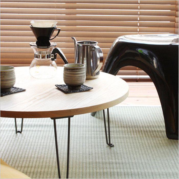 【松野屋ちゃぶ台丸】折りたたみテーブル和昔ながらタモ材62cm■送料無料■あす楽