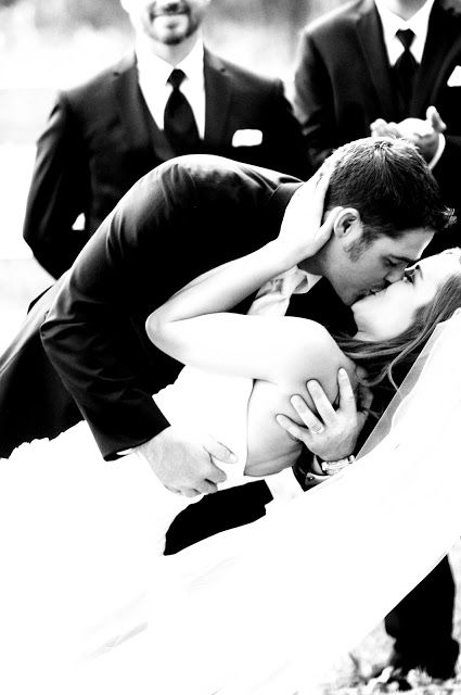 House of Higdon: J & C Wedding Pictures - Country Wedding, First Kiss