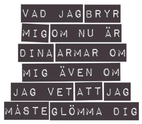 Håkan Hellström. Kärlek är ett brev skickat tusen gånger.