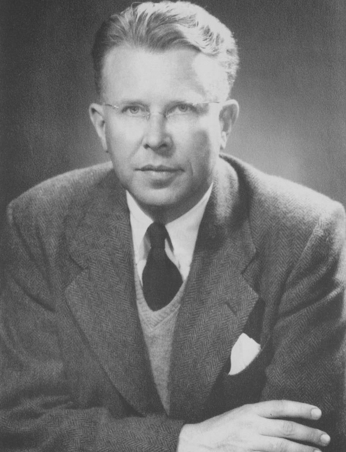 Ernest Lawrence (1901 - 1958) Experimental nuclear physicist, winner of the Nobel Prize for Physics for inventing the cyclotron, atomic element 103 (lawrencium) and the Lawrence Livermore National Laboratory are named for him