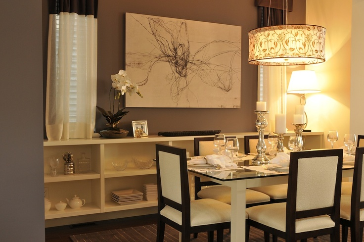 25 best ideas about brown dining rooms on pinterest - Brown and white dining room ...