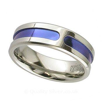 Geti Anodised Slotted Zirconium Ring