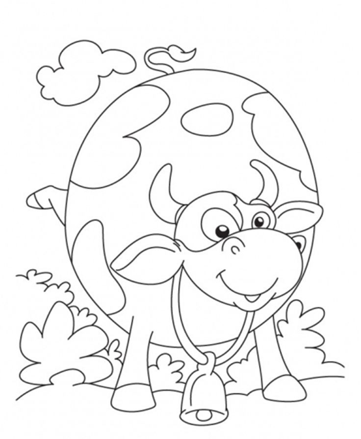 Cow Coloring Page Pages Ijigenme Of Dairy Cows For Kids And All Ages