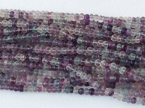 Fluorite Beads Natural Multi Fluorite Faceted by gemsforjewels