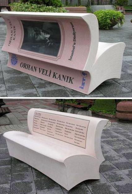 book bench Istanbul, Turkey