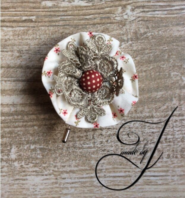 Romance lapel flower/pin