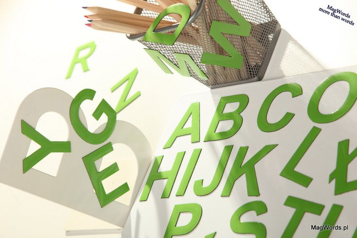 SELEDYNOWE 5 cm Literki na Lodówkę lub Tablicę Magnetyczną - 26 szt w MagWords - More than Words na DaWanda.com #alfabet #alphabet #Buchstaben #letters #magnets