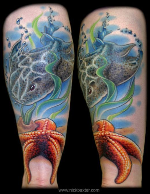 Ships and Sea Life Tattoos