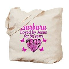 JOYOUS 85TH Tote Bag Spiritual and uplifting 85th birthday T Shirts and gifts for the faith filled 85 year old. http://www.cafepress.com/heavenlyblessings/12705805 #85yearsold #Happy85thbirthday #85thbirthdaygift #Christian85th #happy85th #Personalized85th #85thprayer
