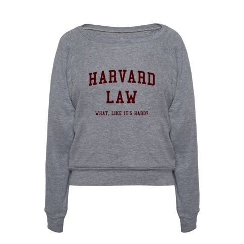 Get a giggle out of your girlfriends with this classic comedy turned broadway musical, Legally Blonde quote, Harvard Law parody, ivy league, college design in the style of a Harvard college shirt! Like OMG! Take 25% Off everything site-wide now through Tuesday April 19th!