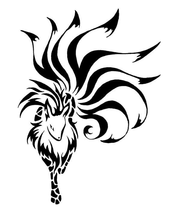nine tailed fox tribal tattoo - Google Search | randomm ... |Tribal Nine Tailed Fox Tattoos