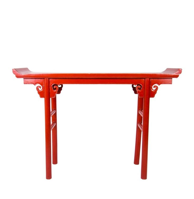 Pair Of Chinese Console Tables  Traditional, Lacquer, Console Table by Marguerite Rodgers