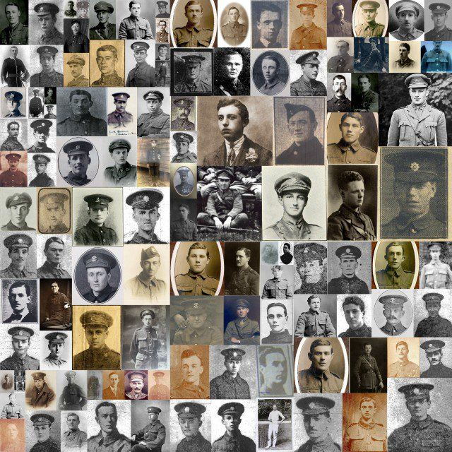 Just a few of the 19240 men killed first day of the Battle of the Somme. All remembered in Exeter 100 years later, 1 July 2016.