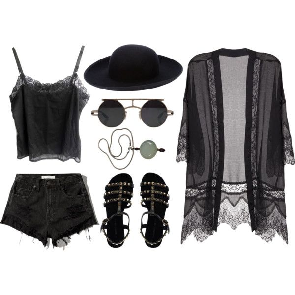 Summer goth by skullkid on Polyvore featuring Lush Clothing, Abercrombie & Fitch, L'Autre Chose, Comme des Garçons and Retrò