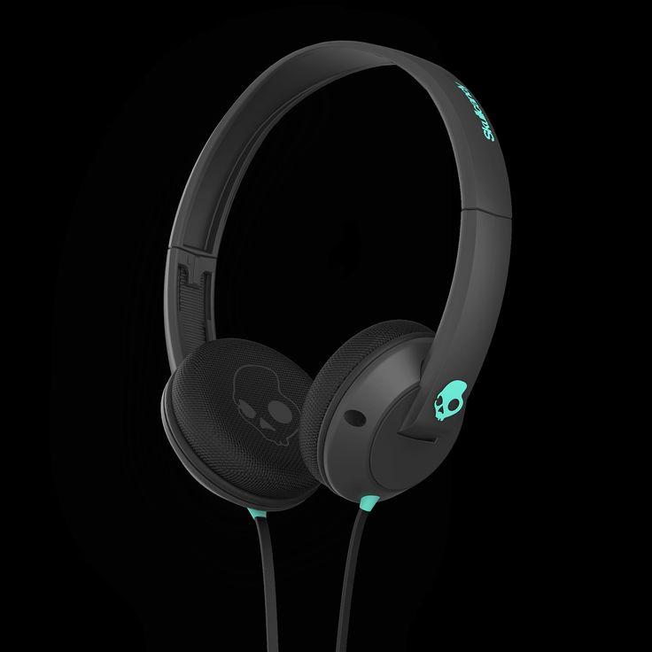 Skullcandy Uprock On-Ear Headphones - Carbon/Mint