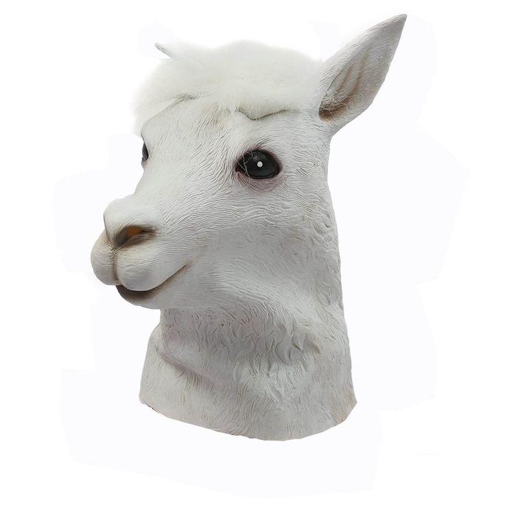 Máscara de látex de alpaca cabeza del traje de vestido de lujo del partido de Halloween: Amazon.es: Hogar