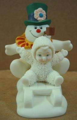 "Snowbabies ""Fun with Frosty the Snowman"" Christmas Figurine ~ New Free Shipping"