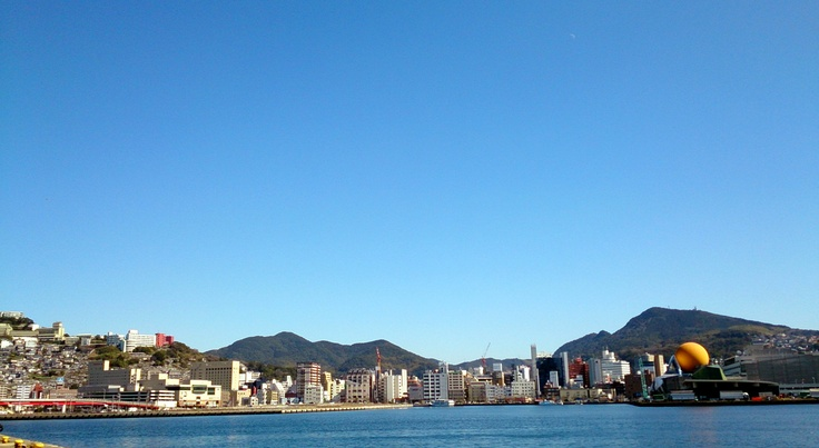 Very beautiful blue sky!  Nagasaki, Japan