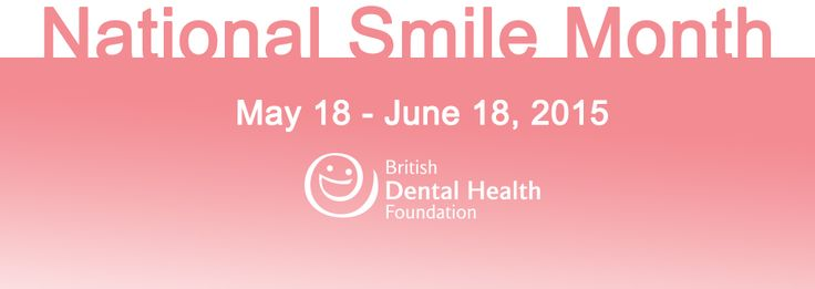 National Smile Month is the UK's largest oral health campaign. It's from 18 May to 18 June. Aims to improve public oral health. #NSM15 #NationalSmileMonth #OralHealth #Campaign #DentalHealth