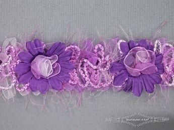 Bloemenkant 40mm lila paars