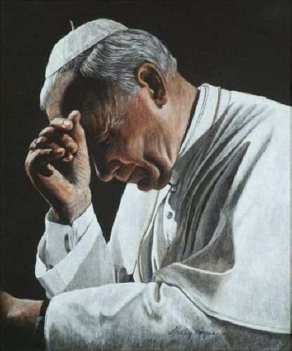 Pope John Paul Ii In Prayer