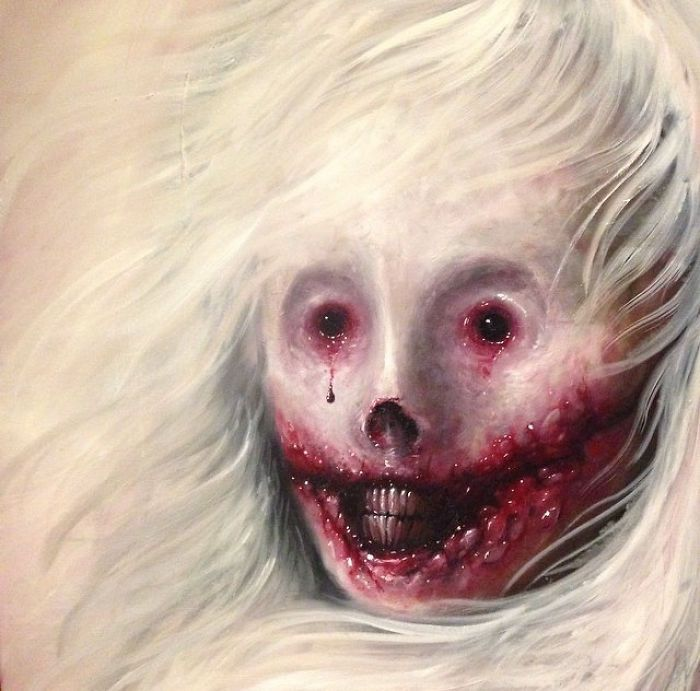 My Latest Horror Paintings Created With Oil | Bored Panda