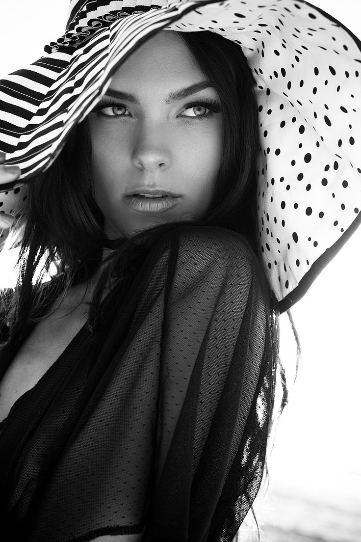 Spots, sheer, black and white...Summer Hats, Portraits With Hats, Fashion, Hats Style, White, Hats Beautiful, Floppy Hats, Photography, Black