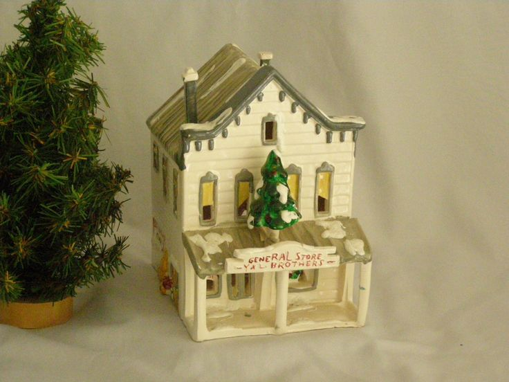 "Dept 56 ""GENERAL STORE""  (1978) Original Snow Village by parkie2 on Etsy"