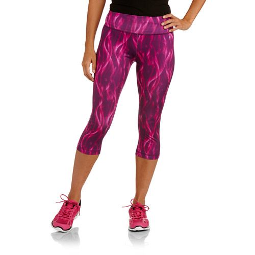 Danskin Now Women's Allover Printed Capri Tights from walmart believe it or not- I normally don't do walmart clothes but am looking for cute workout gear. Worth a shot. Small