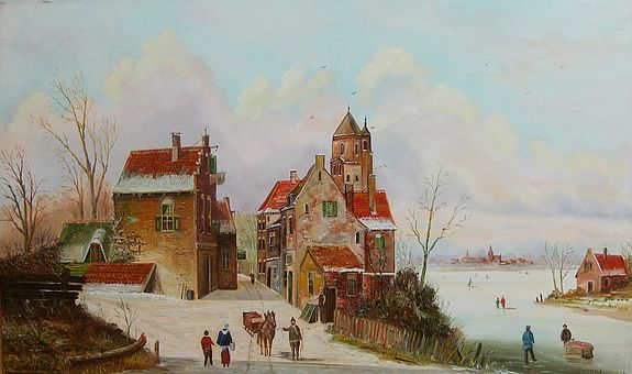Hans-Peter Emons, Holländische Gracht im winter 2