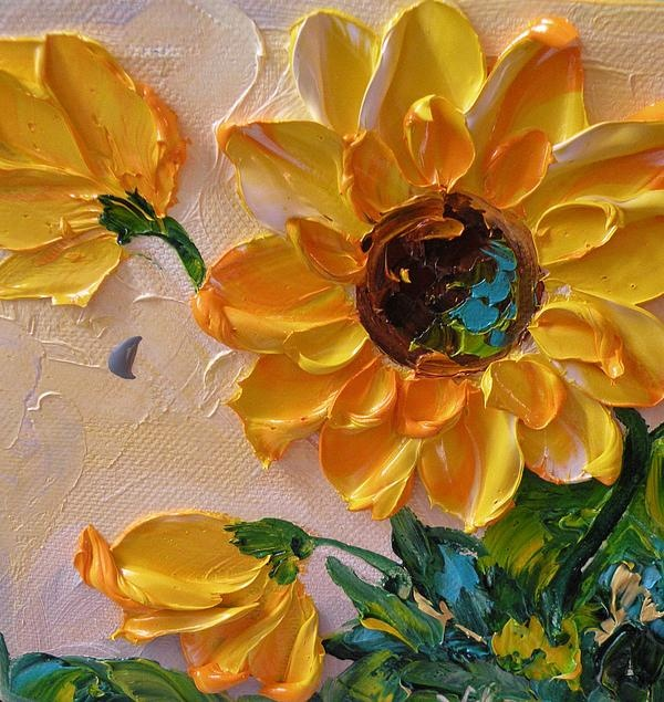 Impasto Sunflowers