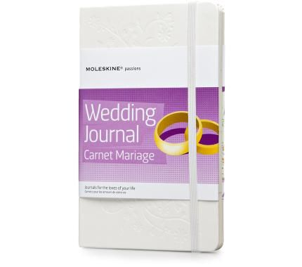 Moleskine Pasion Journal: Wedding Journal  The journal has 8 themed sections to fill in; Space for noting down ideas and inspirations, organizing the ceremony and reception, deciding on the music, the flowers, the decoration.... 162 adhesive labels for personalizing your journal. Bridal Book insert: to plan your dress, accessories, make-up, hairstyle- the perfect look for your big day.